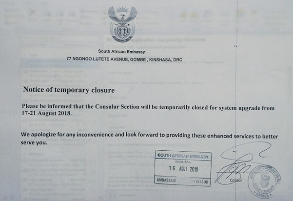 South african embassy consular section