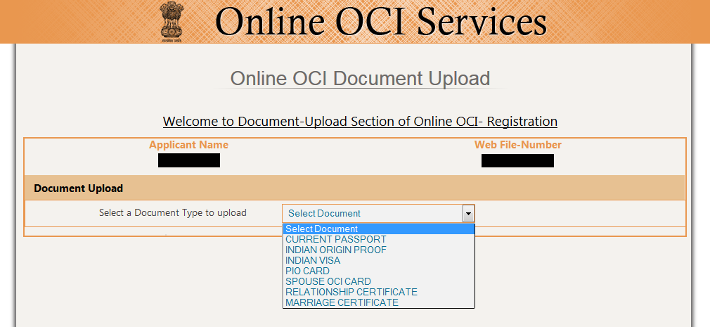 Online-Oci-Services Oci India Application Form on form minor signature, card sample, sample for minor part signature,