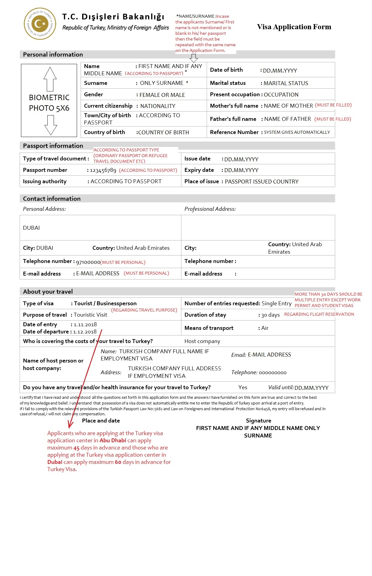 Turkey Visa Information In Uae Visa Types Single Entry Tourism
